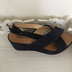 Wedge Jcrew suede navy shoe